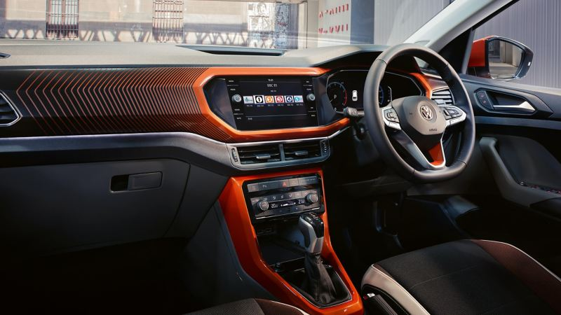Shot of Volkswagen T-Cross dashboard