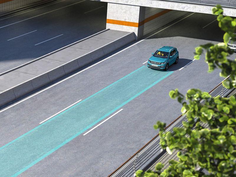 Volkswagen T-Cross on motorway