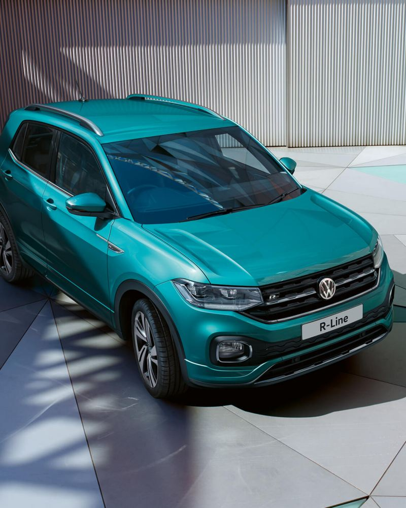 A green T-Cross R-Line.