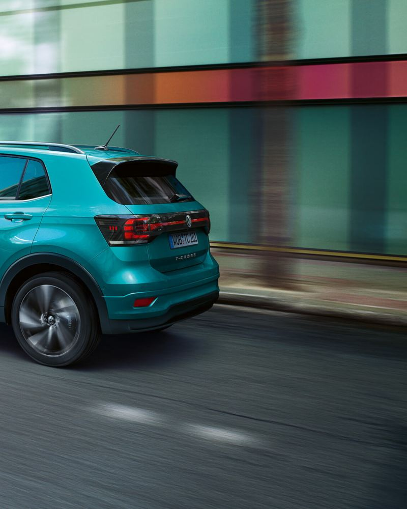 Action shot of the  Volkswagen T-Cross