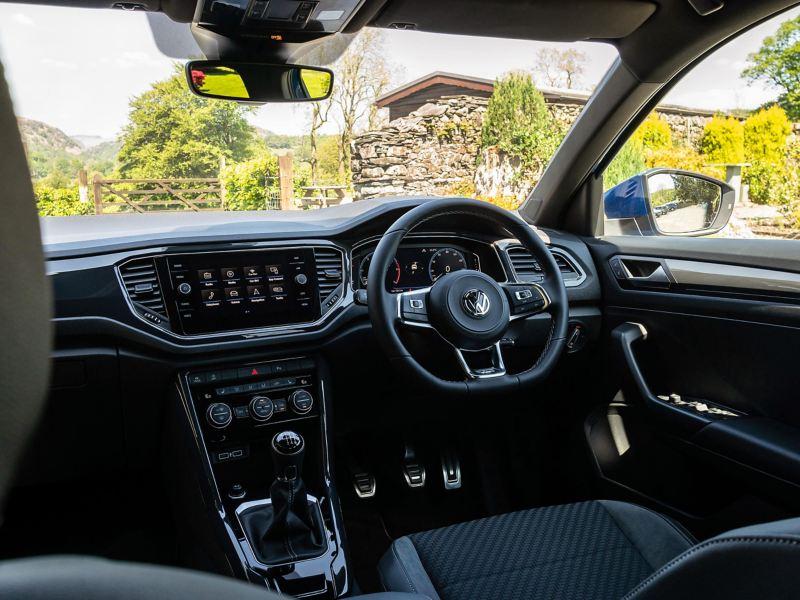 The interior of a Volkswagen T-Roc