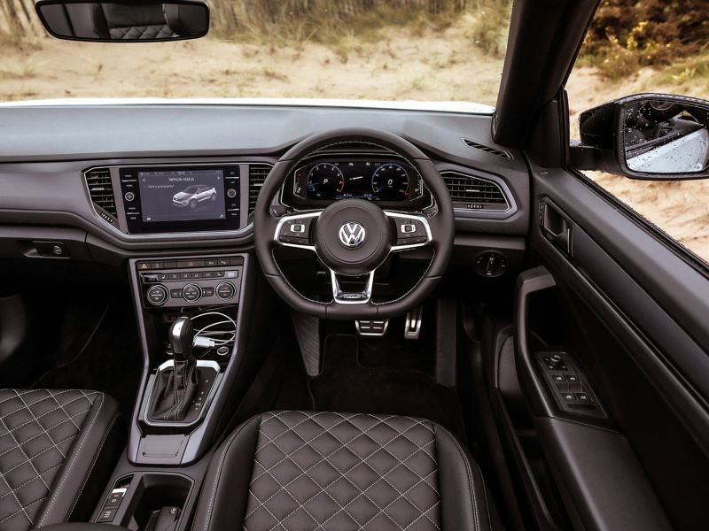 The interior of a T-Roc Cabriolet