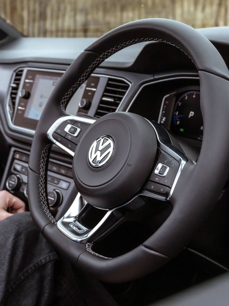 The interior of a Volkswagen T-Roc Cabriolet