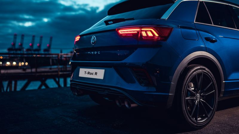 The back of a Volkswagen T-Roc R