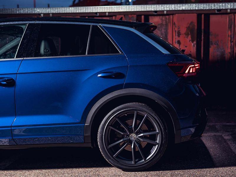 A blue Volkswagen T-Roc R