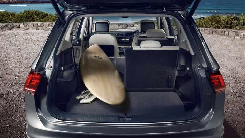 The spacious boot of a Volkswagen Tiguan Allspace