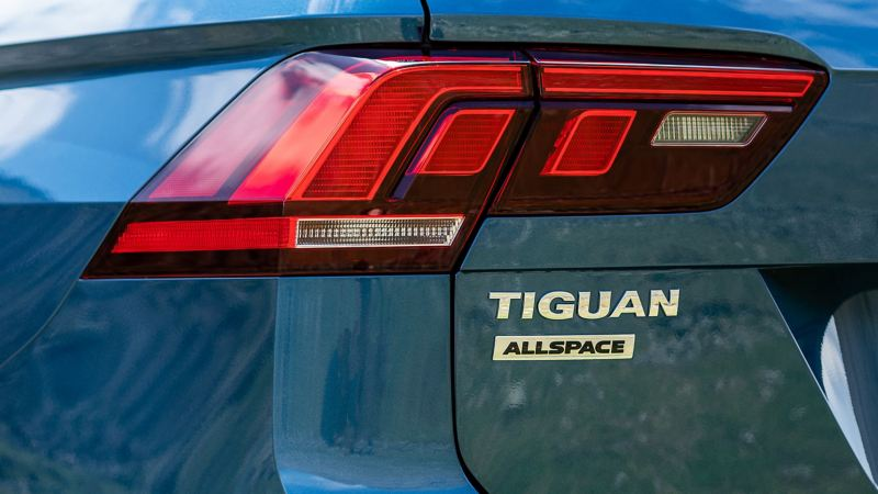 The rear light of a Volkswagen Tiguan Allspace