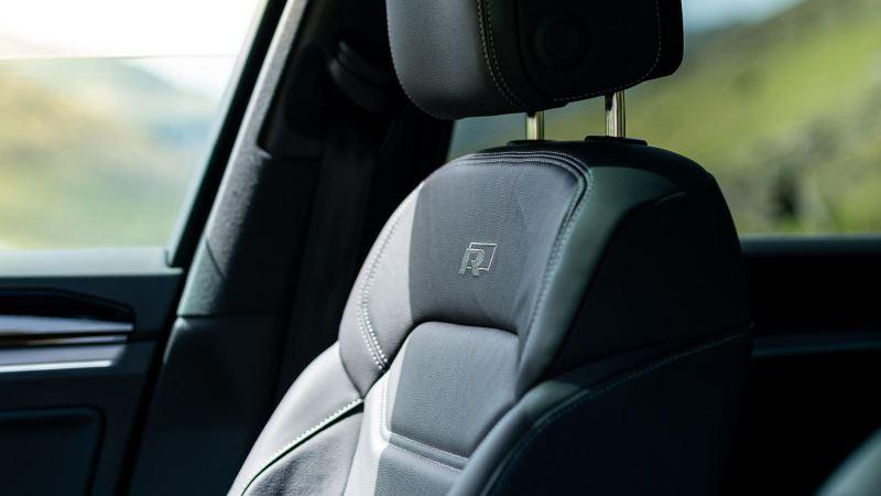 Interior shot of a Volkswagen Touareg.