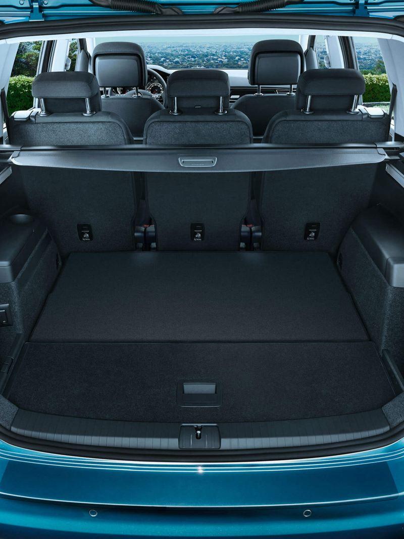 Boot interior of the Volkswagen Touran