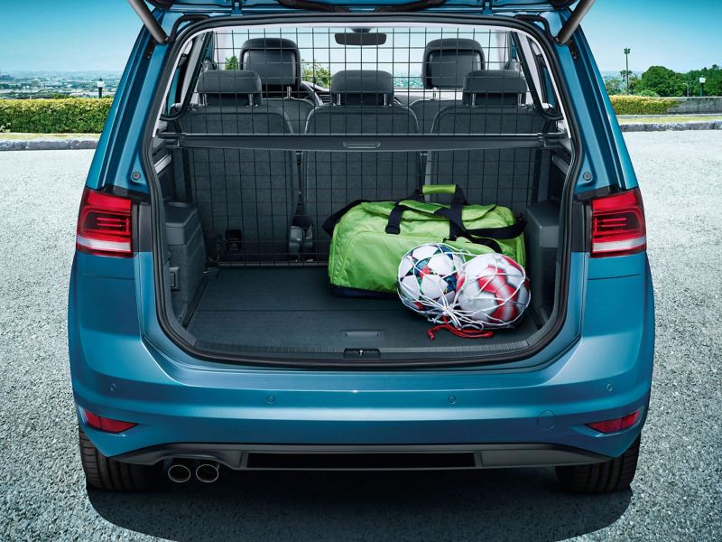 The spacious boot of a Volkswagen Touran