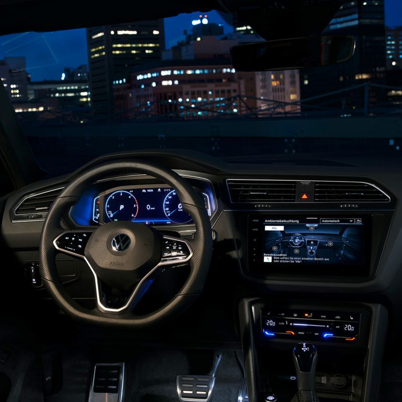 Interior mood lighting of the Tiguan