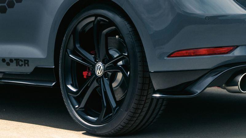 Rear view of Golf GTI wheels