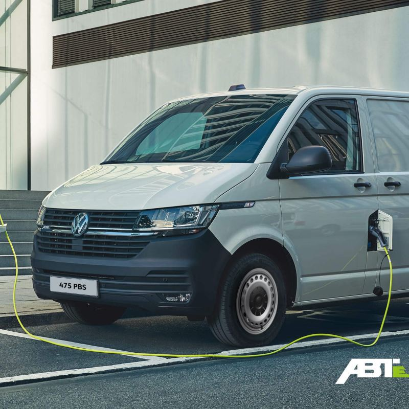 ABT eTransporter charging in a city