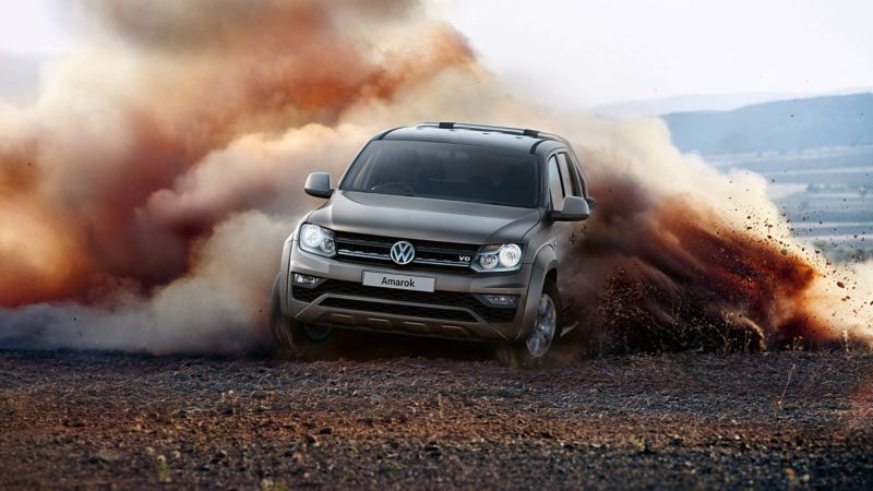 Amarok pick-up driving off road