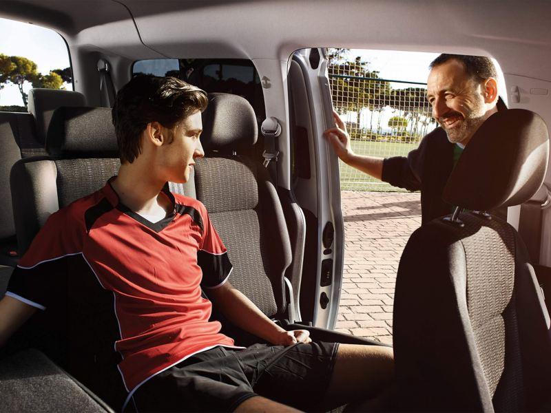 Spacious flexible interior of the VW Caddy Life van