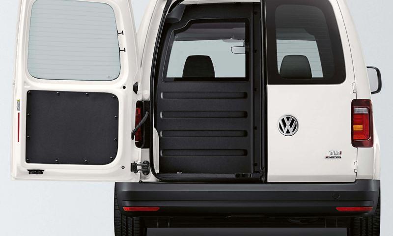 Standard glazed rear doors on Caddy panel van