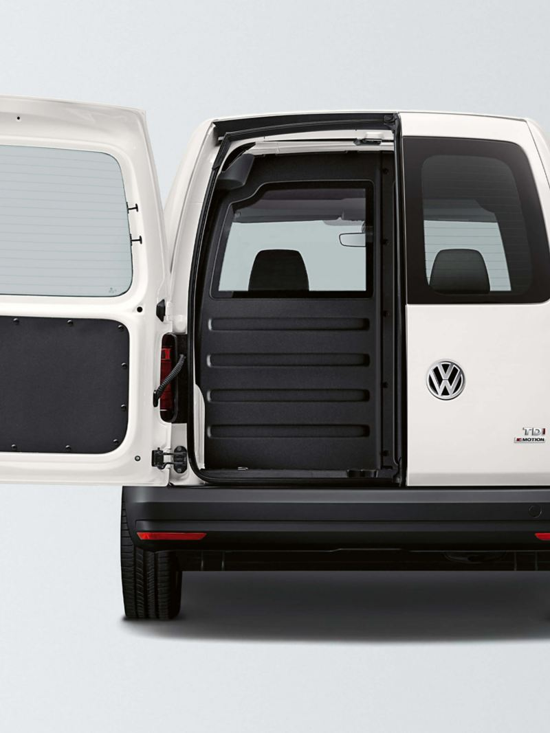 Standard glazed rear doors on Caddy panel van
