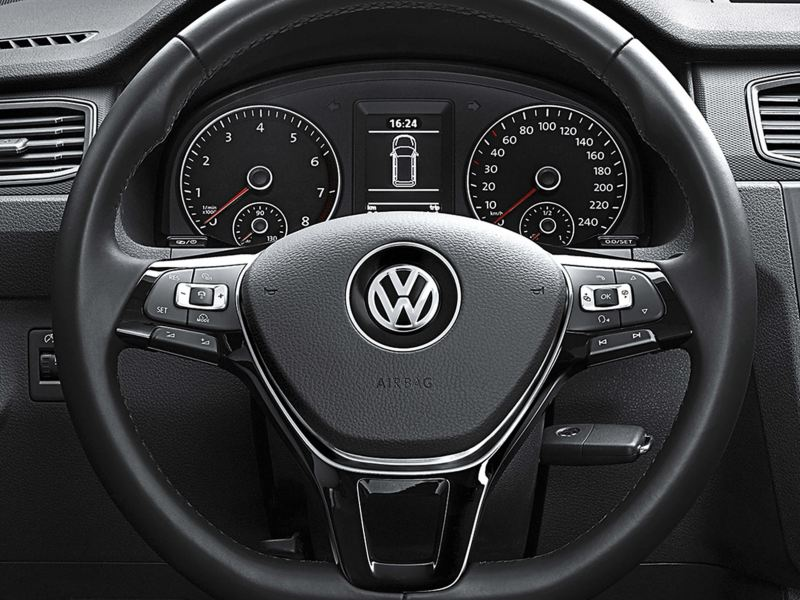 Caddy panel van multifunction steering wheel