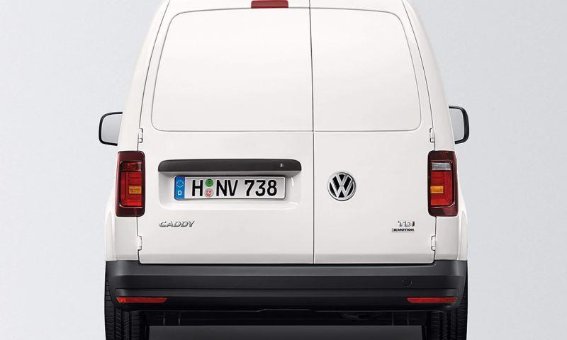 Rear wing doors with plastic panel on caddy panel van