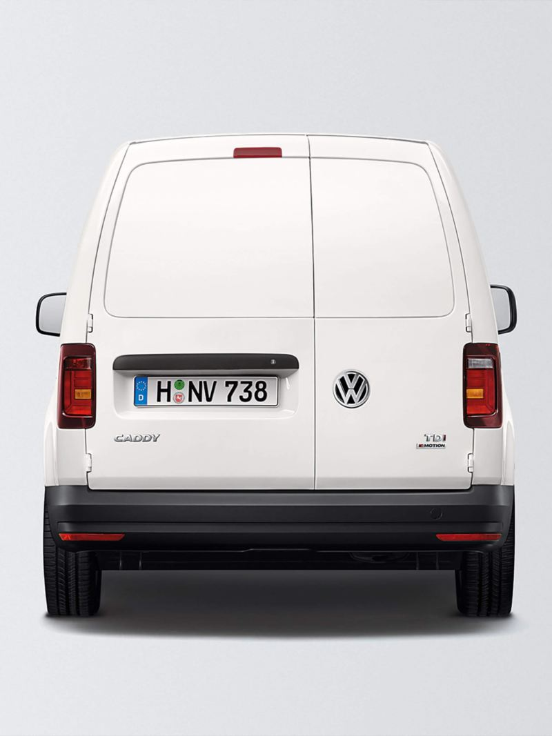 Rear wing doors with plastic panel on caddy panel van