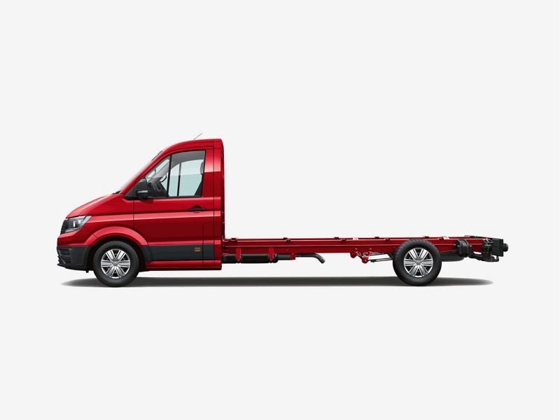 Side view of Crafter chassis cab long wheelbase