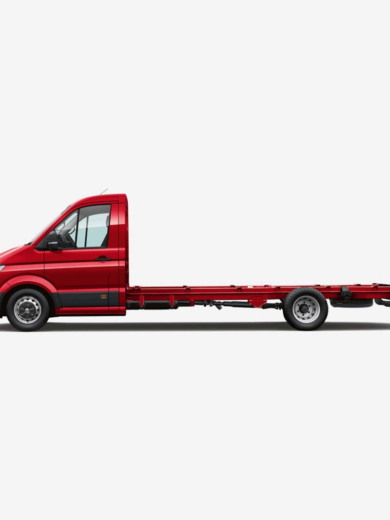 Side view of Crafter chassis cab maxi wheelbase