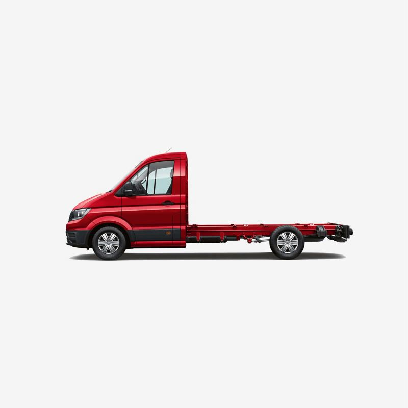 Side view of Crafter chassis cab medium wheelbase
