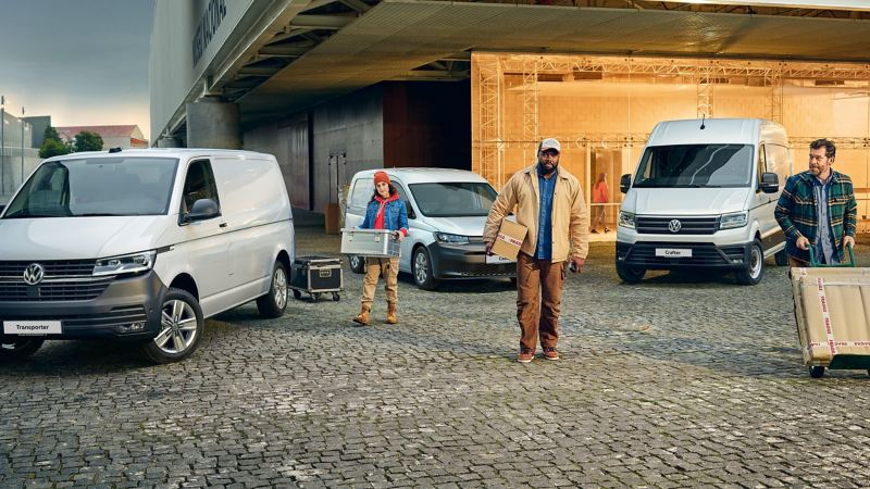 VW van range in a business location
