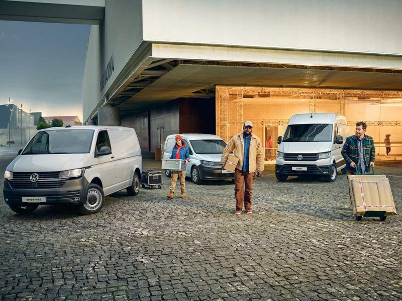 A range of VW vans