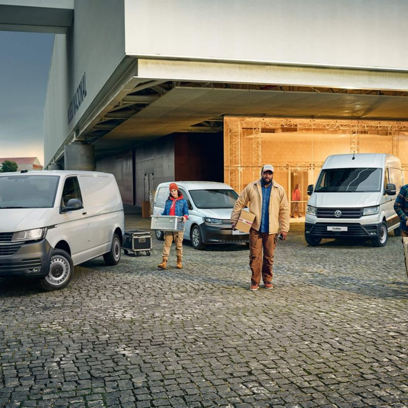 A range of VW vans
