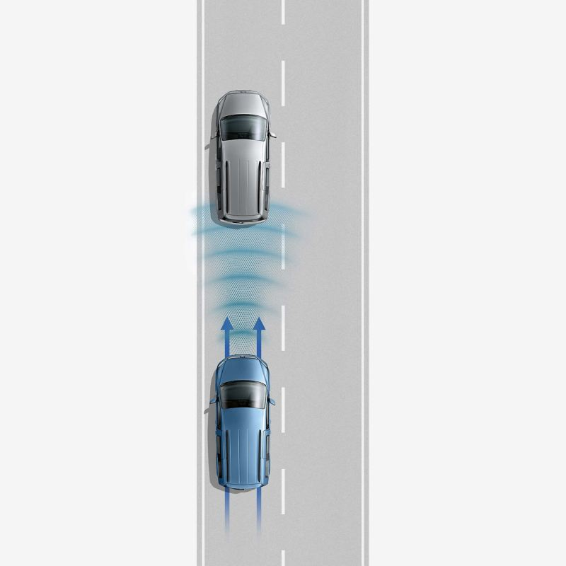 Front Assist with City Emergency Braking diagram