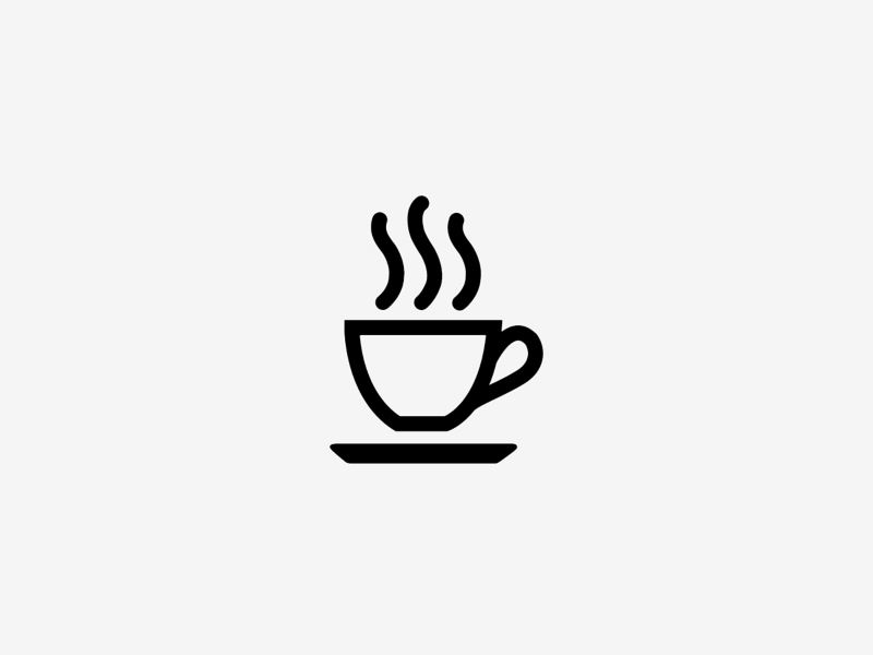 Driver alert system, coffee cup icon
