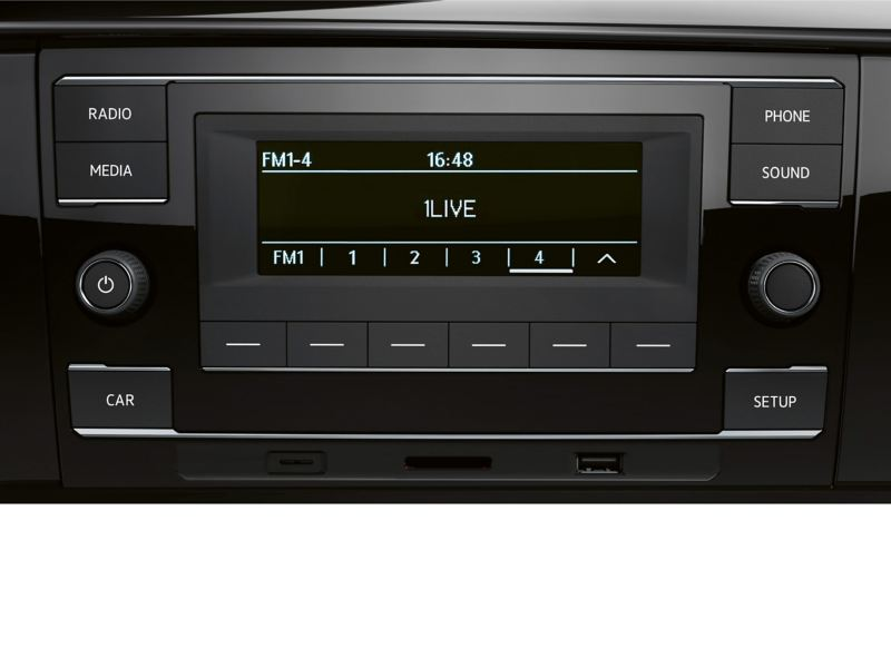 Composition Audio radio system in VW Transporter Dropside cab
