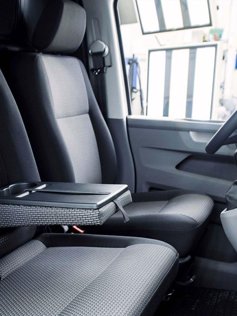 Transporter 6.1 interior storage options