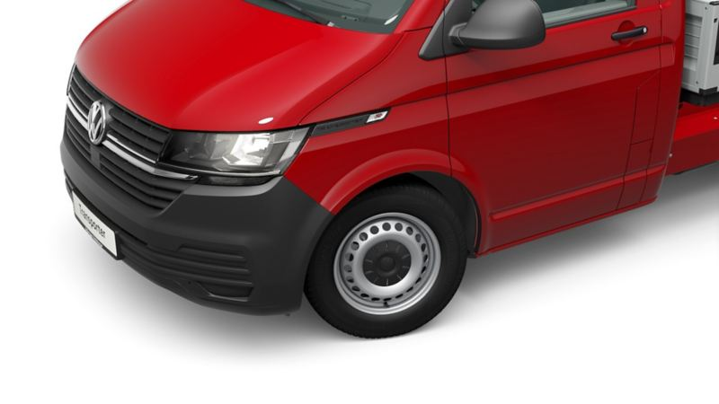 VW Transporter 6.1 Dropside rear quarter view