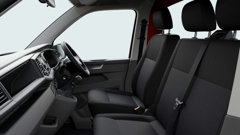 VW Transporter 6.1 Dropside interior cab view