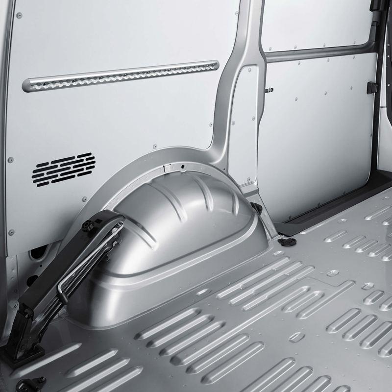 Hardboard panels in cargo area of VW Transporter 6.1 panel van
