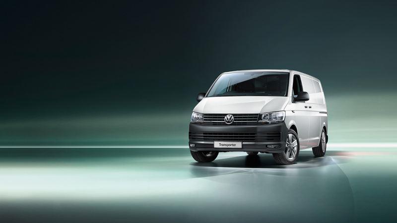 New VW Transporter T6.1 panel van front quarter view