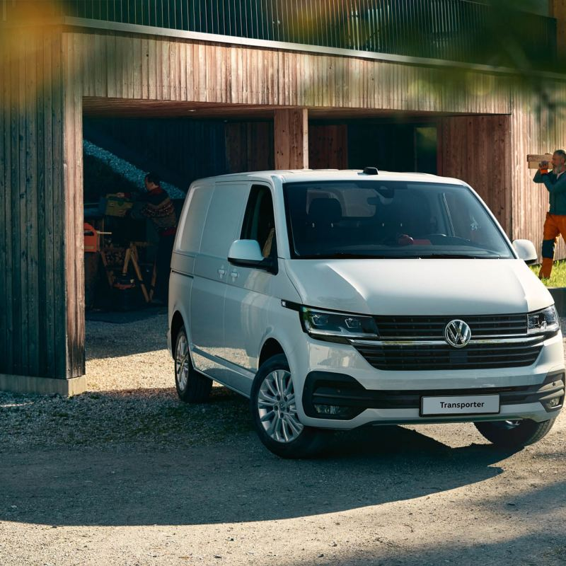 VW Transporter at a building site