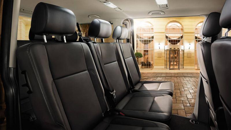 Transporter shuttle interior; seating