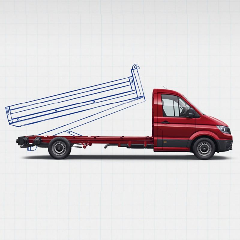 Crafter chassis cab with design