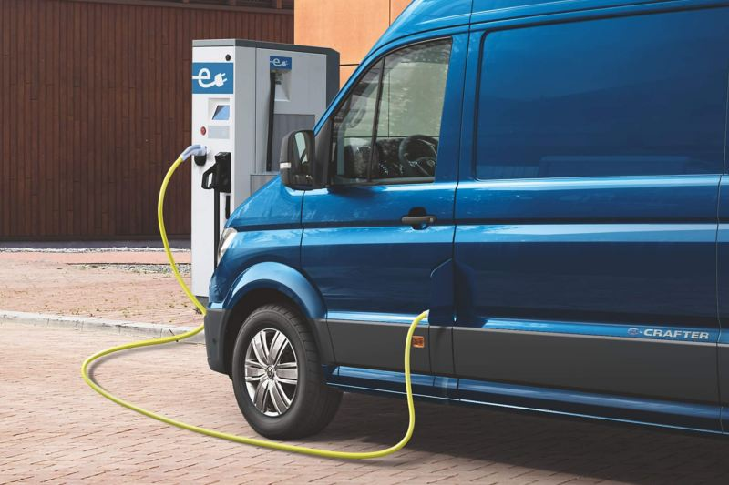 e-Crafter electric van charging