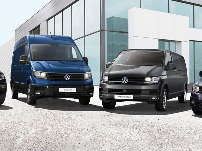 VW van range outside Van Centre