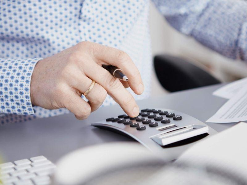 Calculator on office desk