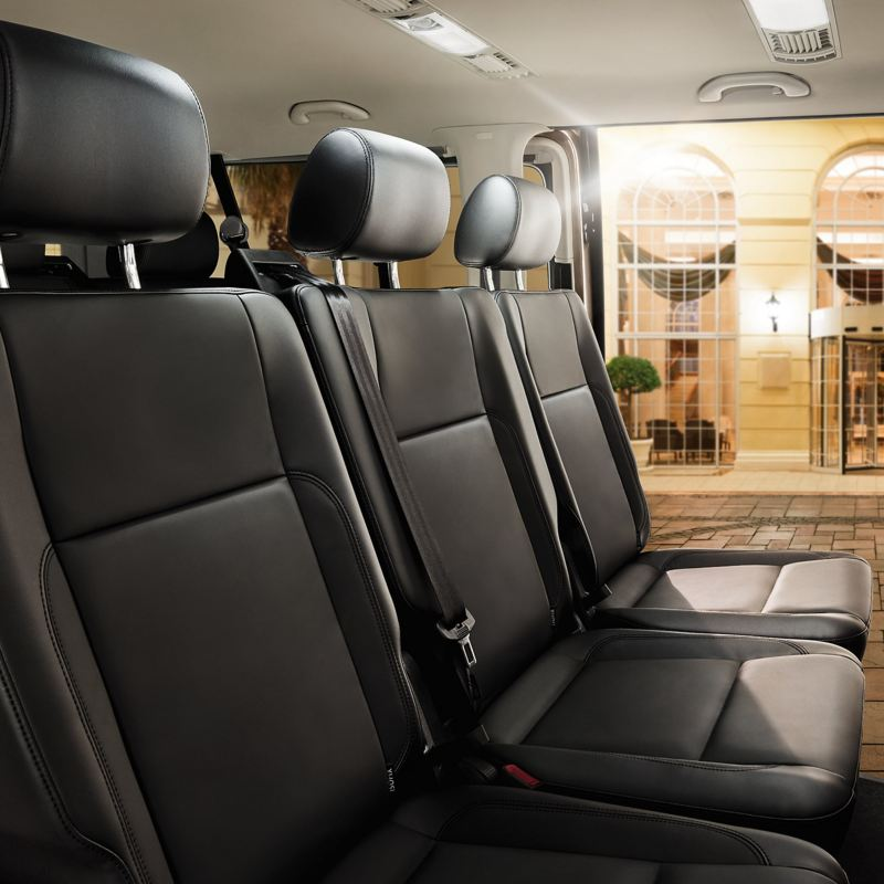 Transporter 6.1 shuttle interior passenger seating