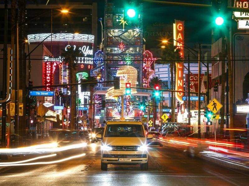 VW California camper van on Hollywood Boulevard