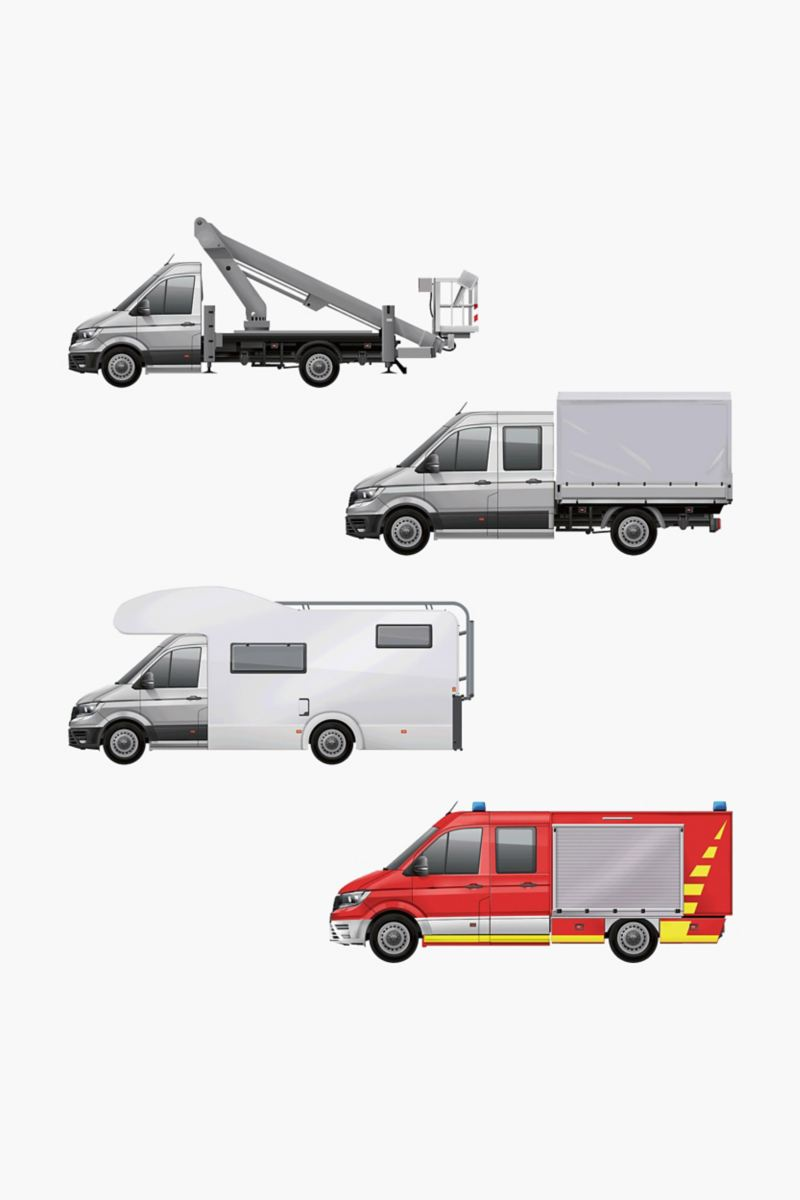 Examples of engineered for you VW Crafter conversions