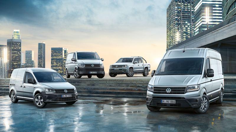 vw Volkswagen nyttekjøretøy Caddy liten varebil Crafter kassebil Amarok pickup Transporter