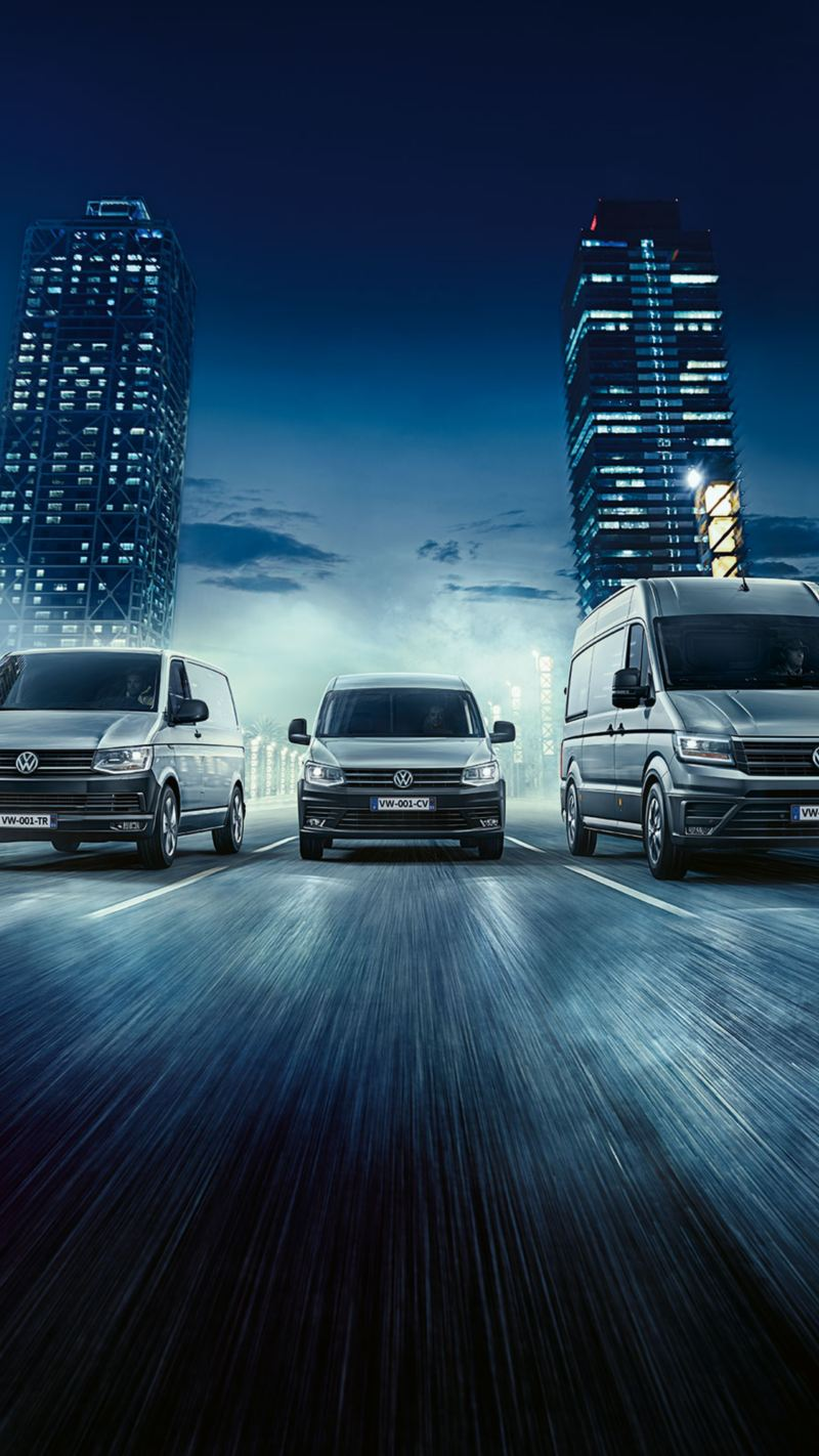 gamme Volkswagen Véhicules Utilitaires Crafter Van caddy transporter ville