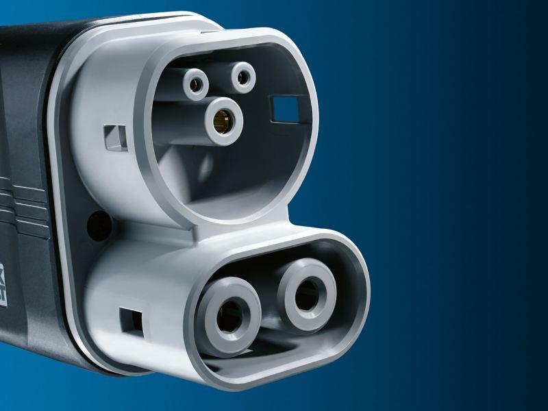 Une prise pour recharger des véhicules électriques.